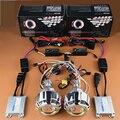 Motocicleta Doble Angel Eyes Kit de Halo + Demonio HID Bixenon Lente Del Proyector Faros Para Honda CBR600F4i/CBR1000RR/Yamaha R1 R6 R15
