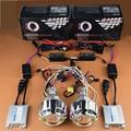 Motorcycle Double Angel Eyes Halo+Demon HID Bixenon Lens Projector Headlights Kit For Honda CBR600F4i/CBR1000RR/Yamaha R1 R6 R15