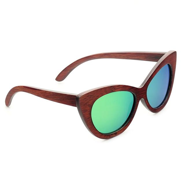 BOBO BIRD Wooden Handmade UV400 Polarized Women Sunglasses
