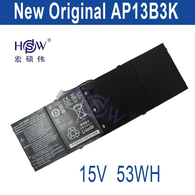 HSW Laptop Battery for Acer Aspire R7 M5-583p Series Ap13b3k Ap13b 4lcp6/60/80 3560mah 15v bateria akku hsw replacement laptop battery for dell precision m4600 m6600 series 0tn1k5 fv993 pg6rc r7pnd dp n0tn1k5 bateria
