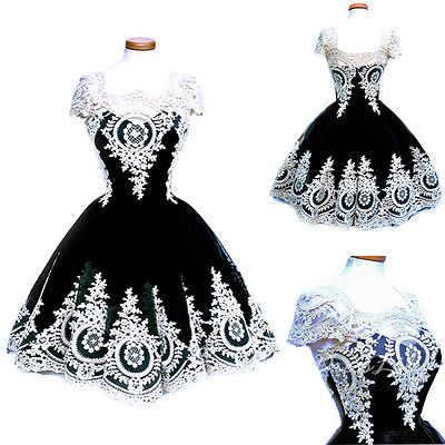 Short sleeves Sexy Womens Lace Crochet Hollow Bodycon Prom Ball Gown Cocktail Party Mini Dress