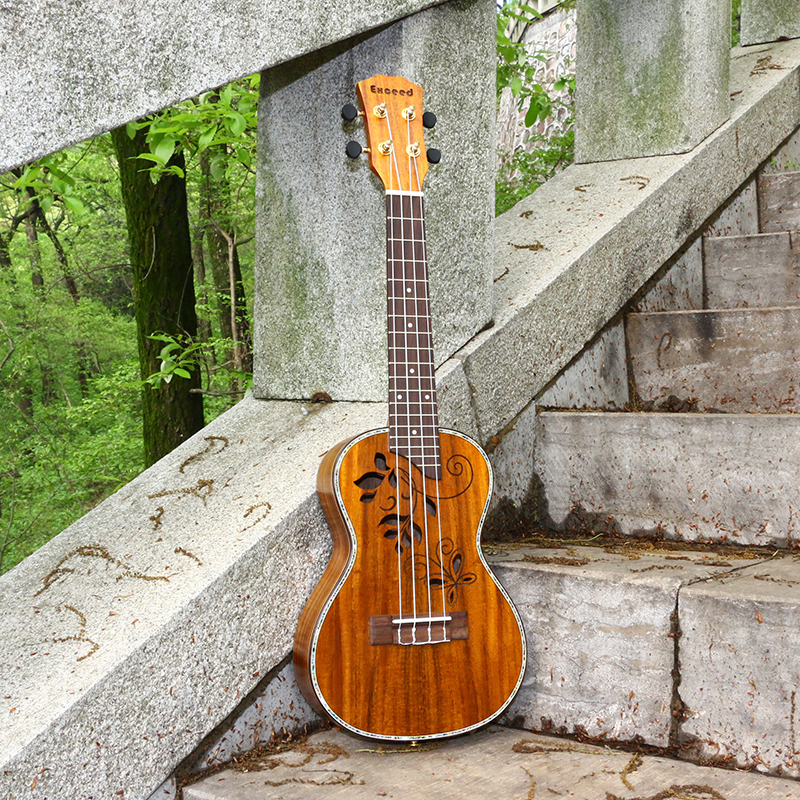 23 Concert Ukulele Acoustic Guitar Handcraft KOA Hollow Top 4string music instrument Hawaii ukelele mini Guitarra Free Shipping tenor concert acoustic electric ukulele 23 26 inch travel guitar 4 strings guitarra wood mahogany plug in music instrument