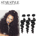 Brazilian Virgin hair extension Natural color Star Style Hair Brazilian Loose Wave Human Hair 3pcs Malibu Dollface Hair Bundles