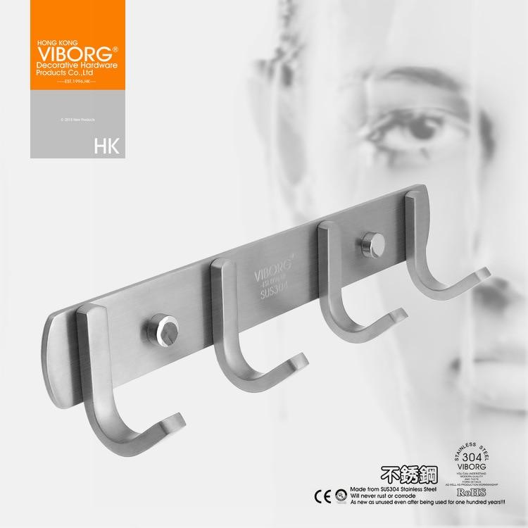 viborg solid 304 stainless steel bathroom towel holder towel rack rh aliexpress com  stainless steel bathroom door hooks