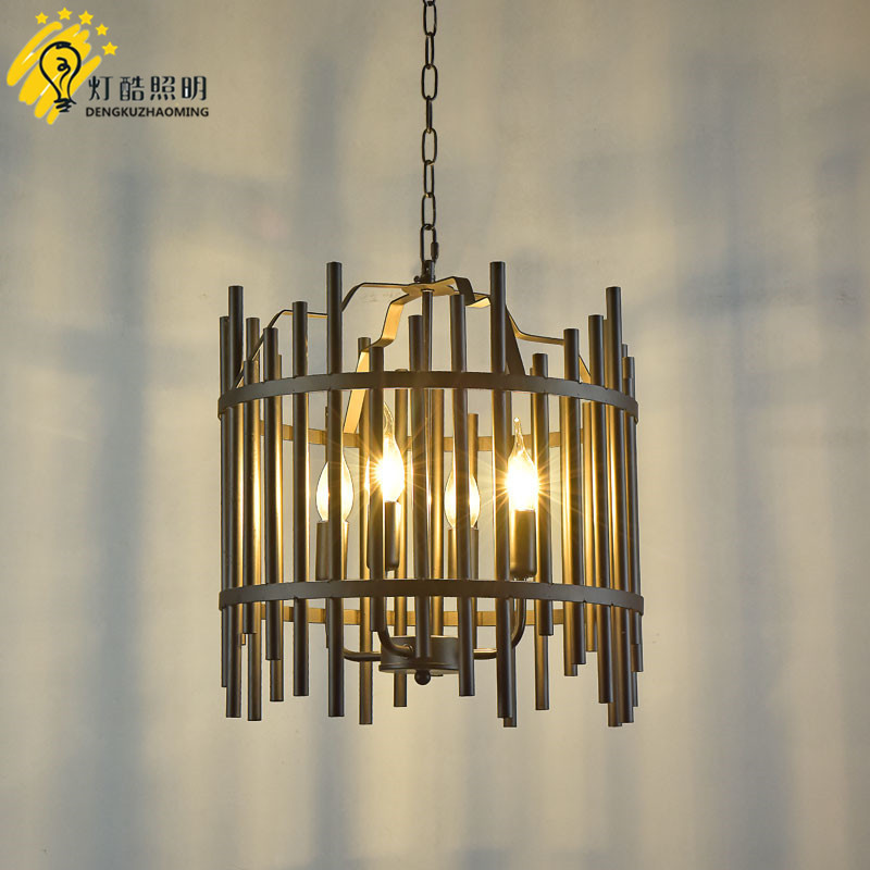 ancient ways, wrought iron chandelier personality American sitting room bedroom restaurant bar counter 4 head droplight ancient ways wrought iron chandelier personality american sitting room bedroom restaurant bar counter 4 head droplight
