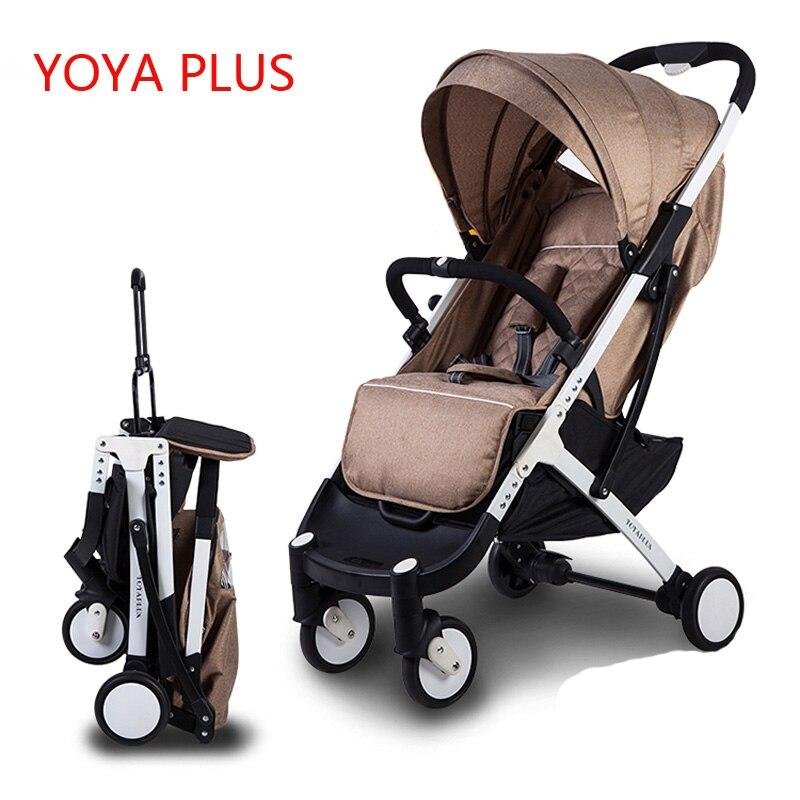 2018 NEW Yoyaplus Baby Stroller Pram Children Pushchair Poussette Travel Baby Stroller Wagon Portable Folding Yoya Plus Stroller термоноски guahoo цвет черный g52 0463cw bk размер 42 46