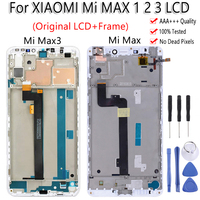 100% Tested LCD+Frame For Xiaomi Mi MAX 1 2 3 LCD Display Touch Screen Digiziter Assembly For Mi MAX1 2 3 Replacement Free Tools