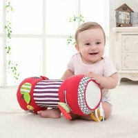 42cm Newborn Baby Multifunction crawling roller Toddler Toys Fitness Sport Soft Squishy Stuffed Plush Toys Music Teether Bibi