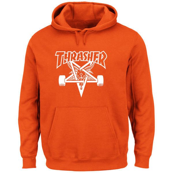 Hanmeinen Men s Thrasher Magazine Skate Goat Orange Hoodie Sweatshirts 100%  Polyester Free Shipping-in Men s Costumes from Novelty   Special Use on ... 875d086a9