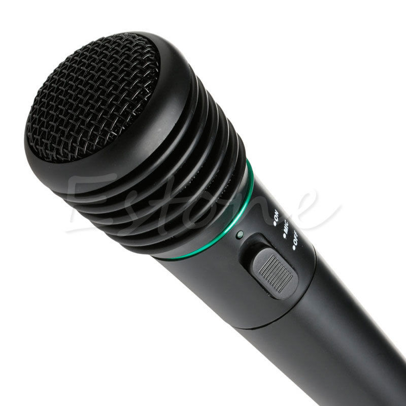 New 2019 arrival 2in1 Wired Wireless Handheld Microphone Mic Receiver System Undirectional Hot Sale in Microphones from Consumer Electronics