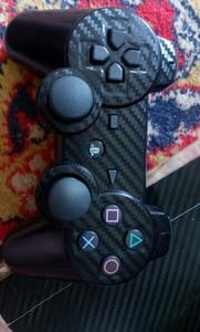 Image 5 - 100% חדש סיבי פחמן מדבקה עבור PS3 Slim ו 2 בקר עורות מדבקת עבור PS3