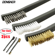 Airsoft 3pcs/Set Gun Cleaning Kit Brush Double-headed Rifle Pistol Shotgun Hunting Accessories Tactical Gun Brush Cleaner Tool(China)