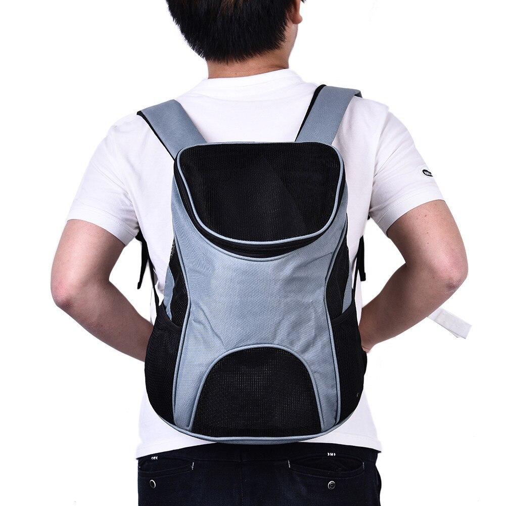 Pet Carrier Dog Pack Cat Travel Bag Mesh Bag Backpack Shoulders Back Front Head Off Tour Design Shoulder Strap Adjustable