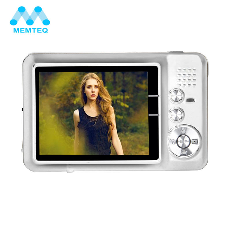 MEMTEQ Digital Camera 18.0MP 2.7 Inch TFT LCD Monitor 8X Digital Zoom 720P HD Video Digital Camera Supported 32GB Smile Capture hot sale easy use hd 720p 12m 8x digital zoom video camcorder camera gift for family happy recording 1pc