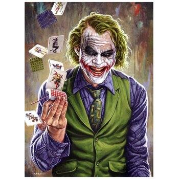 5d Diy Elmas Boyama çapraz Dikiş Palyaço Joker Ev Dekor Tam