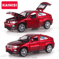 15CM 4 Color Alloy Cars 1 32 X6 SUV Car Pull Back Diecast Model Toy With