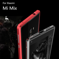 Luphie Mobile Phone Case For Xiaomi Mi Mix Anti Knock Aluminum Bumper Sticker Back Cover