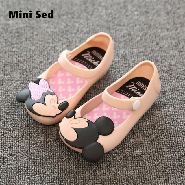 Mini SED Children Sandals Girls shoes  2017 Summer Girls Sandals Cute Baby Shoes for girls Jelly shoes Kids sandals Buckle Strap