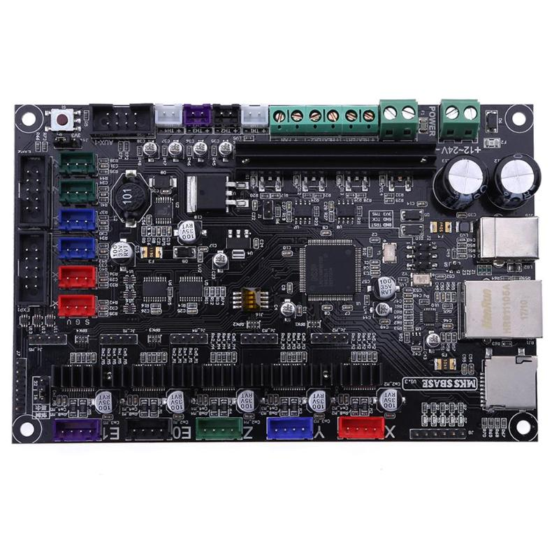MKS SBASE V1.3 CE & RoHS 32bit Arm Scheda di Controllo Della Piattaforma Liscio Open Source MCU-LPC1768 supporto Ethernet Preinstallato Dissipatore di Calore