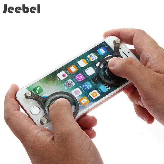 Jeebel 2pcs Game Joysticks Mini Anti-slip Zero Touch Screen Smartphone Pad Joystick Game Joypad For PUBG Mobile Racing FPS TPS