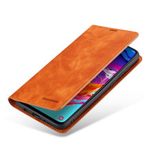 luxury Business Magnetic Phone Case For Samsung Galaxy A20 A30 A40 A50 A60 A70 Case Card slot Flip Stand wallet Cover Coque etui(China)