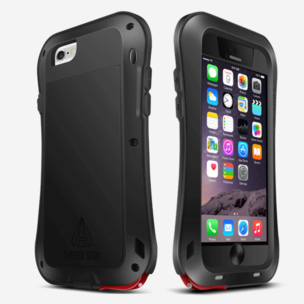 Цена за Подлинная Любовь Мэй Три анти противоударный Прочный закаленное стекло Gorilla Металл + силиконовый чехол для iPhone 6 6S 5S 6S плюс Чехол