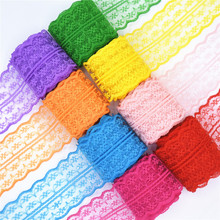 Beautiful 10 yards Lace Ribbon Tape Width 45MM Trim Fabric DIY Embroidered Net Cord For Sewing Decoration african lace fabric 10 meters lace ribbon tape 45mm wide trim fabric diy handicrafts embroidered net cord for sewing decoration african lace fabric