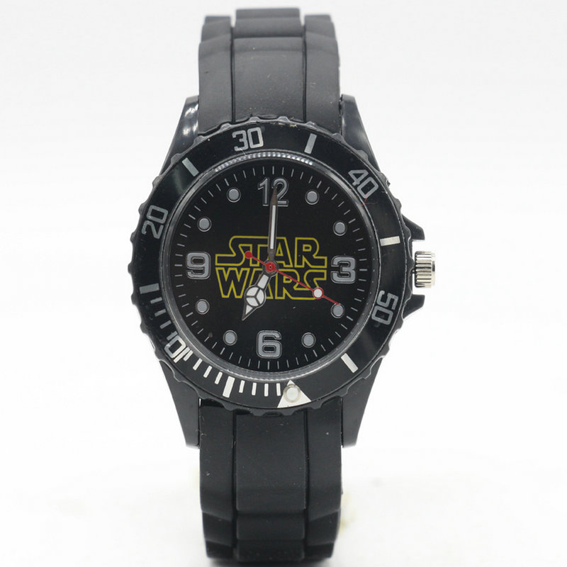 Quartz-Watch Army Wristwacth Silicone Star-Wars Rubber Cool Black Sport Fashion Women title=