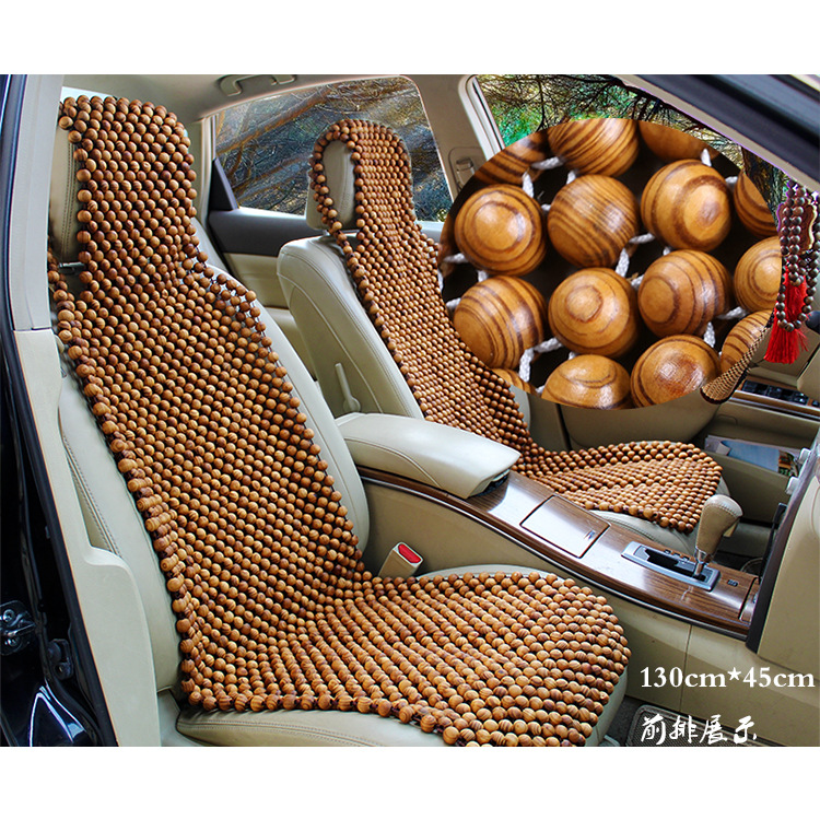 2018 Araba Aksesuar Auto Summer Car Seat Pad Wooden Ball Single Piece Bamboo Sheet Cold Cushion Van Round Bead Front Row Truck ...