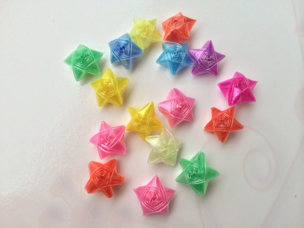 30pcs Colorful Origami Wishing Lucky Stars Folding Straws Plastic