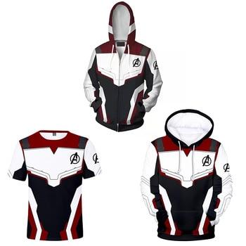 2019 Avengers Endgame Quantum Realm Sweatshirt Jacket Advanced Tech Hoodie Cosplay Costumes  Superhero Iron Man Hoodies Suit