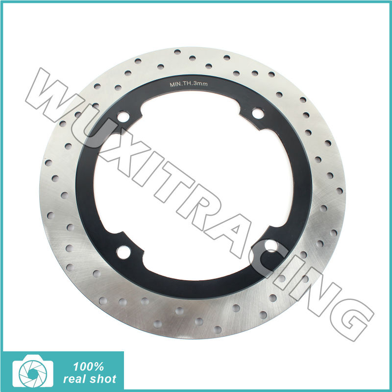 256mm Front Brake Disc Rotor for NX 500 650 Dominator 88 89 90 91 92 93 94 95 96 97 98 99 00 01 02 XR 650 L 93-14 Black Round full set front rear brake discs rotors for honda nx dominator 650 88 89 90 91 92 1988 1989 1990 1991 1992 xr l 650 93 12