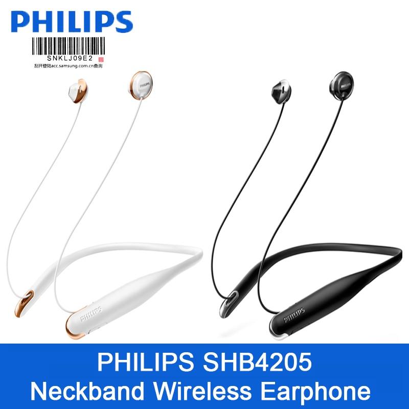 Philips SHB4205 Blurtooth casque sans fil bandeau écouteur avec haute qualité sonore pour Xiaomi S8 HuaWei Support test officiel