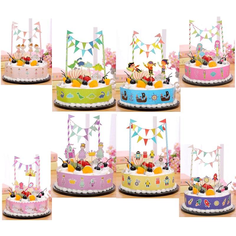 Spaceship Mermaid Princess Ballet Robot Cake Topper Birthday Party
