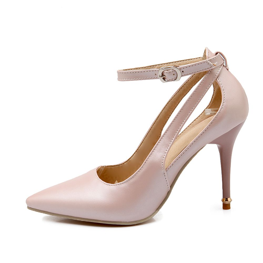 Brand New Summer Black Pink Beige Women Nude Pumps Ladies Elegant  Evening Shoes Stiletto High Heel EL23 Plus Big Size 32 47 10 new 2017 spring summer women shoes pointed toe high quality brand fashion womens flats ladies plus size 41 sweet flock t179