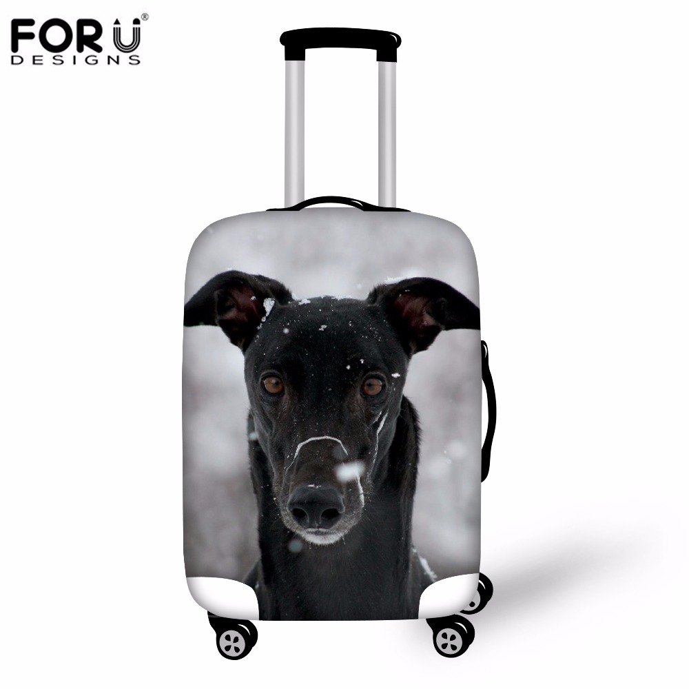 FORUDESIGNS 3D Greyhounds Elastic Trolley Travel Luggage Cover Stretch Suitcase Protective Cover For 18-30 Inch Case Rain Covers
