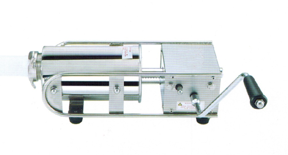 Free shipping Manual  Horizontal Type Sausage Stuffer/Filler Stainless steel 2L/3L/5L/7L for sale economic s steel manual s series sausage filler for hotel butcher home use and hunters