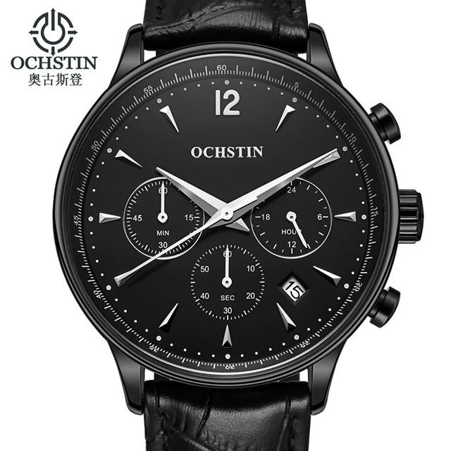 Ochstin relogio masculino homens de negócios de moda de luxo da marca relógio de quartzo do esporte dos homens relógios chronograph relógio de pulso vestido