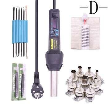 Estación de aire caliente portátil, temperatura constante ajustable, Estación de Reparación SMD para reparación de soldadura