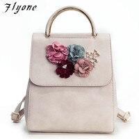 Flyone venta Caliente de La Manera Mujeres Mochila Floral Mujeres Bolsa de Hombro Mochila para Las Niñas FY095
