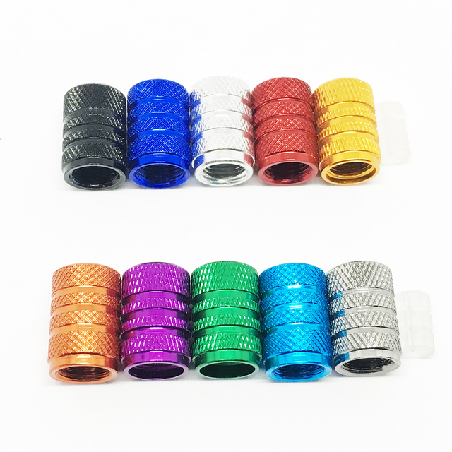 4Pcs Bike Wheel Tire Covered Car Motorcycle Truck universal Tube Tyre Bicycle AV SV American AIR Valve Cap Dustproof 10 colors 5