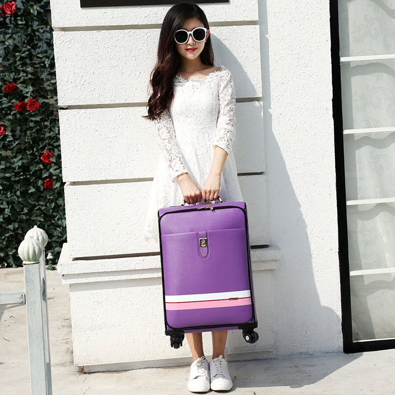 Suitcase trolley luggage female male universal wheels travel luggage bag 20 24 password box pull box