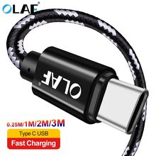 OLAF USB C Cable 1M 2M 3M Fast Charging Type-C USB 2.1A Data Cord cabl
