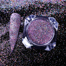 1 Box Holographic Purple Nail Glitters Powder Laser Flakes Rainbow Holo Dust Nail Art Sequins Manicure Pigments Nail Art Decor