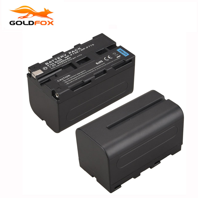 Goldfox NP-F770 5200mah Replacement Digital Camera Batteria For Sony NP-F750 NP-F770 High Capacity Battery
