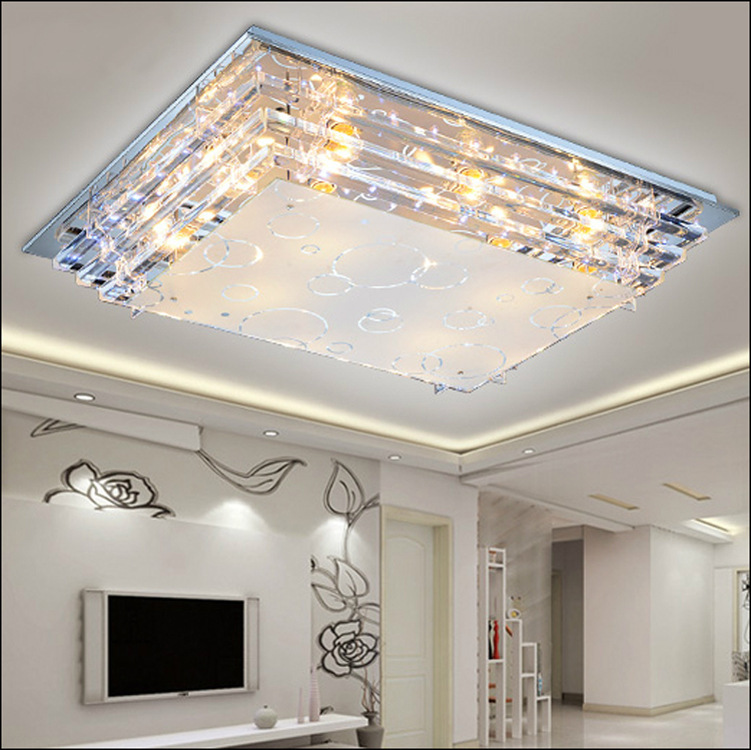 Modern Luxury Glass LED Ceiling Lamp E27 Minimalist Living Room Dining Low Voltage
