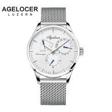 AGELOCER Mens Relógios Top Marca de Luxo Relógio Dos Homens de Negócios Projeto Especial relógios de pulso Do Esporte Relógios Relogio masculino Para O Presente