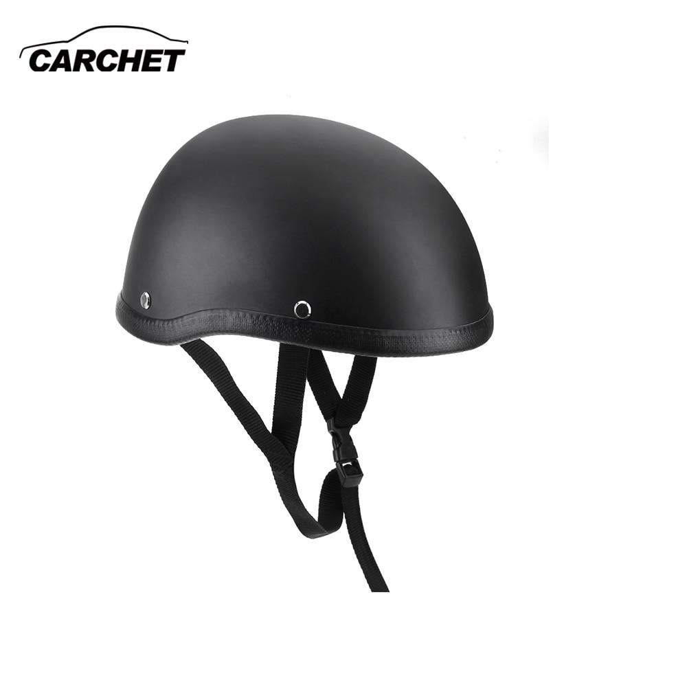 Motorrad Helme Halb Helm 54-60cm Unisex Schutz Helm Schwarz Capacete Half Shell Helm Matte Retro Racer Motocross