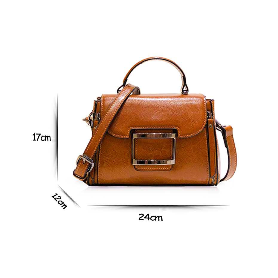 Women genuine leather handbag Real Cow Leather Ladies HandBags Women Totes Messenger shoulder Bags Designe female crossbody bags-in Top-Handle Bags from Luggage & Bags    2