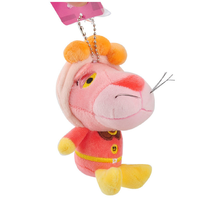 Anpanman Baikinman Pink Panther Plush Toys Keychain Sitting Superman Pink Leopard Panther Soft Animals Stuffed Dolls Key Bag Pendants10pcslot 10cm (3)